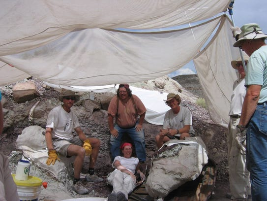 Paleontologists working with the Utah Geological Survey