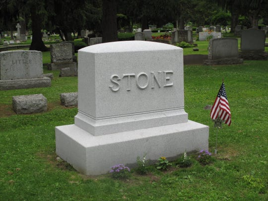 The Charles Stone monument after the cleaning.