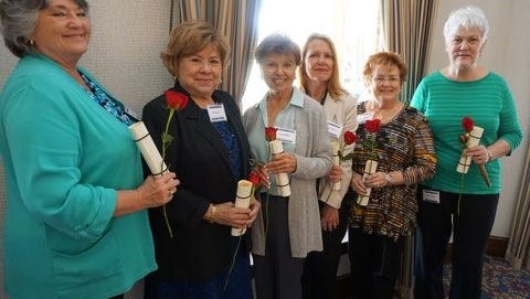 Tallahassee Women's Newcomers Board for the coming year are Jo Ellen Christy, 1st Vice President; Vita Boyle, 2nd Vice President; Ellen Miller, Corresponding Secretary; Marie Melton, Recording Secretary; Mary Willis, Treasurer; and Mary Turbak, President.