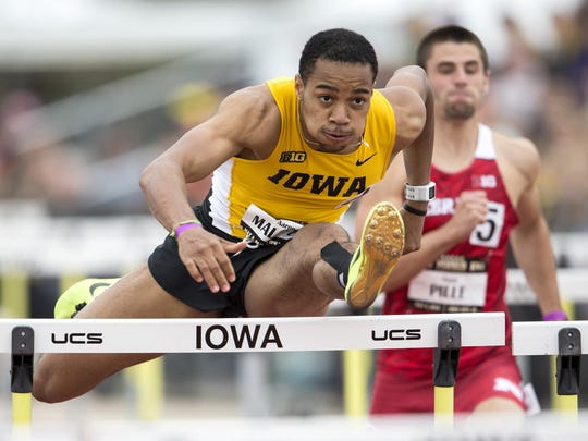 Iowa sophomore Aaron Mallett owns the second-fastest time in the country (13.43 seconds) in the 110-meter hurdles.