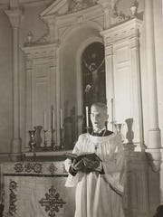 George Huddleston, organist and choirmaster from 1930 to 1974.