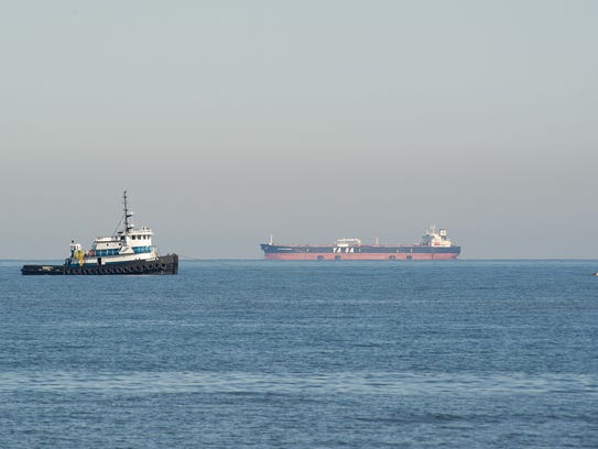 Tug boat helping with the Rehoboth Beach wastewater