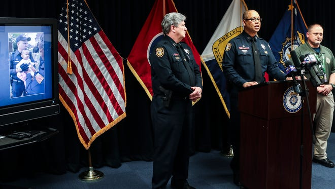 Memphis Police Director Michael Rallings speaks at a March 17, 2018 news conference.