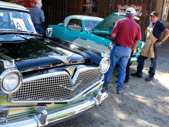 Curtis and Sybil Brown brought their 1957 Hudson Hornet