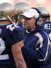 Navy Midshipman assistant coach Chris Culton talks