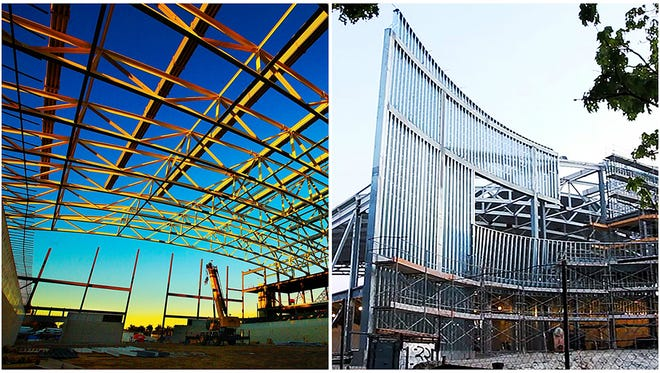 Construction continues recently on Florida SouthWestern State College's multi-purpose arena on FSW's campus in Fort Myers.