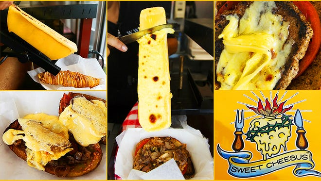 Sweet Cheesus features cheesy-gooey raclette.
