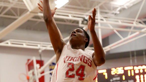Princeton's Darweshi Hunter drives to the basket.