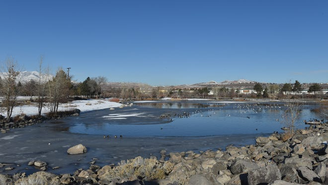 A 19-year-old man died at a local hospital after falling through a frozen pond at Paradise Park on Friday morning Jan. 8, 2015