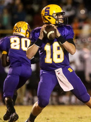 Smyrna quarterback John Turner (18)  will sign with MTSU on Feb. 1.