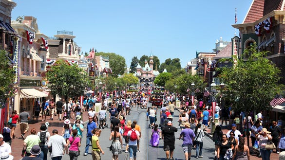 Disneyland Main Street. Credit: Paul Hiffmeyer/Disneyland