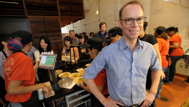 Steve Ells, founder of the Chipotle restaurant chain, is pictured in Sept. 19, 2011.