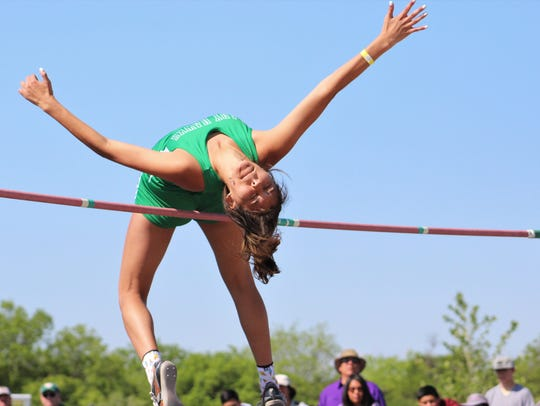 Sam Rocha took second place in the high jump at the
