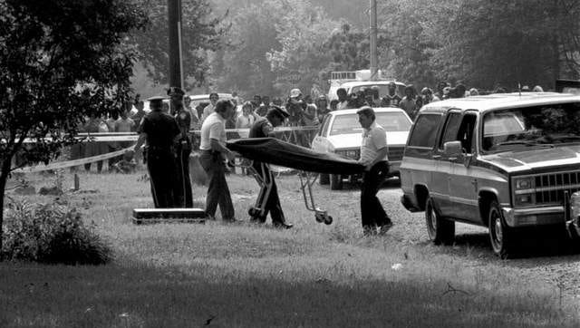 Police investigate the July 19, 1985 homicides of Vivian Chaney, Carlitha Culbert, and Billy Joe Harris who were found dead in their Cedar Grove area home.