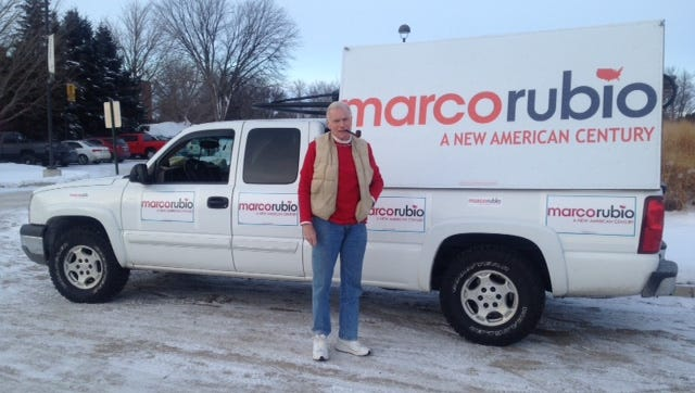 Jim Wilson hit the campaign trail Saturday to support Marco Rubio for the Republican nomination for president.