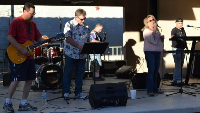 The Vintage Band performed during the September 10 Route 56 Corn Festival Cruise In sponsored by River View Coal & Downtown Morganfield  Inc.