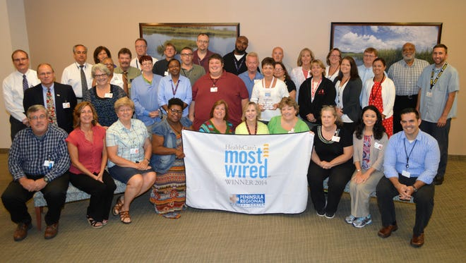 Peninsula Regional Medical Center was recognized for a fifth consecutive year as one of the Nation's Most Wired hospitals.