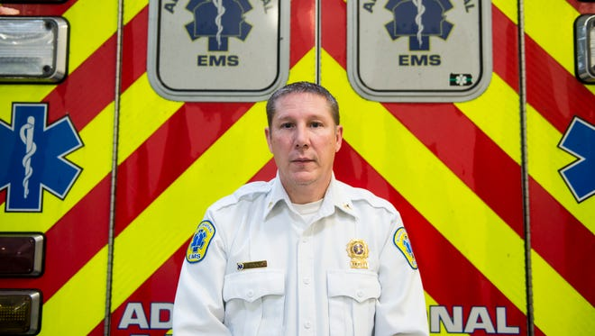 Eric Zaney, 48, is the chief of EMS operations at Adams Regional Emergency Medical Services in Gettysburg Borough. He estimates his crews respond to about 5,000 emergencies in Adams County each year, with 500 to 700 of those responses being deemed truly traumatic.