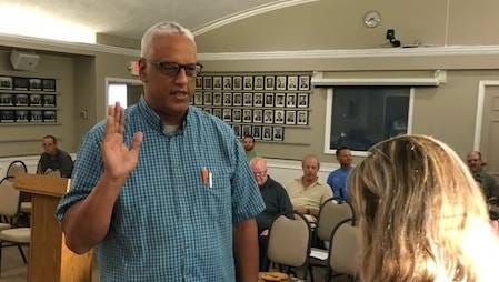 New Plymouth City Commissioner Tony Sebastian was sworn in at Monday's meeting.