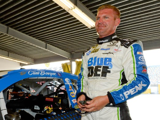 Clint Bowyer, born May 30, 1979 in Emporia, Kan., became