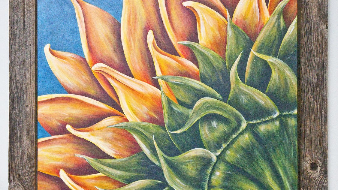 Painter S Career Blooms Into 2nd Plymouth Arts Council Show