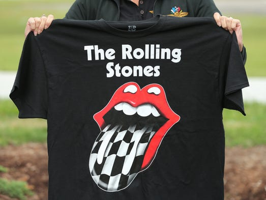 The rolling stones on the 4th what you need to know for Indianapolis motor speedway clothing