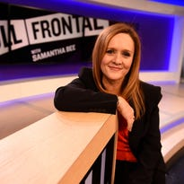 Samantha Bee will become the only current female nighttime talk-show host with Full Frontal on TBS, a weekly series airing Mondays at 10:30 starting Feb. 8.
