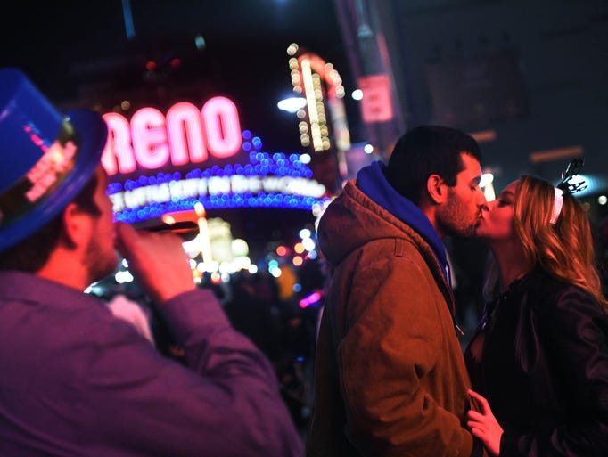 New Year's Eve celebration in downtown Reno on Dec.