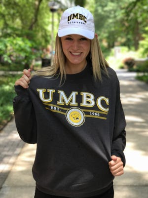 Gulf Coast High School senior volleyball player Gabrielle Curran recently committed to play for the University of Maryland, Baltimore County, during a visit to campus.