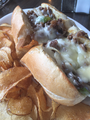 Cheesesteak at Twisted Laurel.