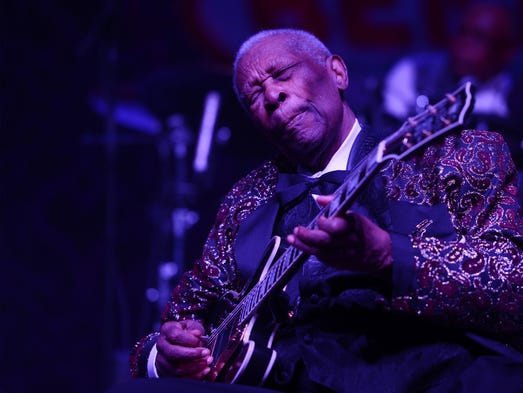 B.B. King performs at the 2014 Big Blues Bender at the Rivera Hotel & Casino on Sept. 26, 2014, in Las Vegas. King died Thursday, May 14, at the age of 89, according to his attorney.