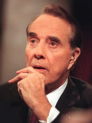 Former Sen. Robert Dole, seen here in a 2000 photo