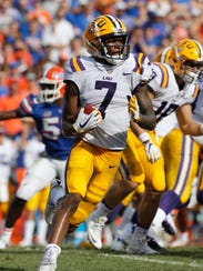 LSU wide receiver D.J. Chark didn't produce big numbers,