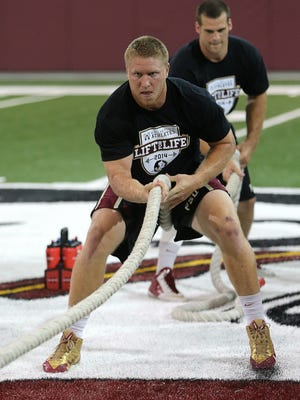 Florida State senior tight end Nick O'Leary Friday during the Seminoles' Lift For Life event.