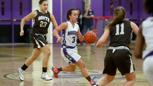 New Rochelle's Kayla Correa in action against Clarkstown