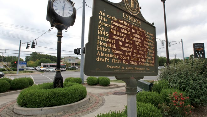 A historical marker in the intersection in the heart of Lyndon, at New La Grange Road and Lyndon Lane, references Alvin Wood who is credited with naming Lyndon in 1871.