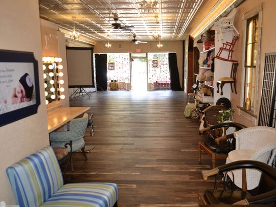 Inside the new Expressions Photography Studio at the renovated historic building at 375 Main Ave. in downtown De Pere.