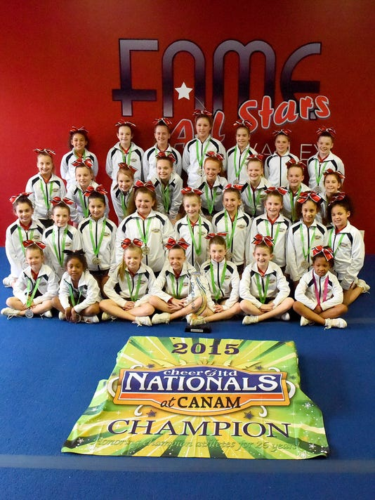 FAME All Stars cheer