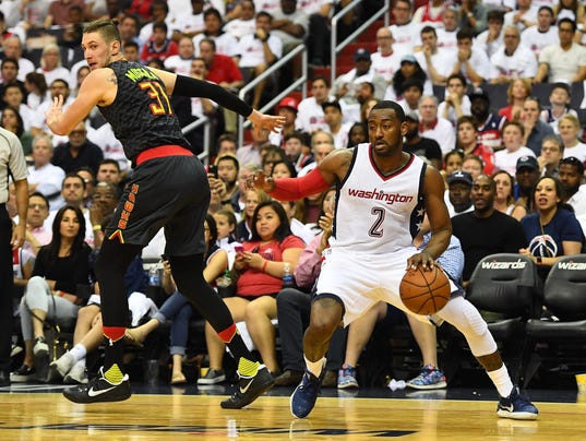 NBA: Playoffs-Atlanta Hawks at Washington Wizards