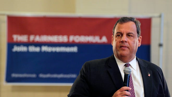 Gov. Chris Christie discusses his Fairness Formula and touches on the recent bombings in New Jersey and New York during a Town Hall event at the Township of Hanover Community Center in Hanover Twp., NJ Monday September 19, 2016.