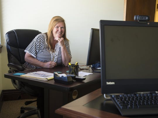 Jane Sanders serves as an advisor to her husband, presidential candidate Sen. Bernie Sanders. Their desks sits side by side at his campaign headquarters in Burlington. Seen on Thursday, August 6, 2015.