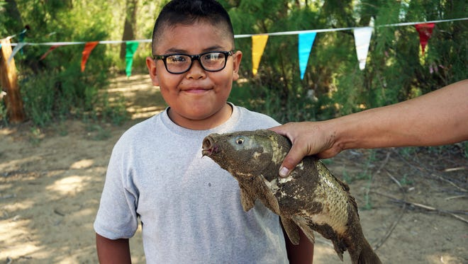 There were 70 young contenders in the weekend fishing derby at Lake Farmington, but Da'Shawn Hunter, 9, caught the largest fish. It was 19 inches long.  More than 400 vehicles were counted at the lake during Saturday's free fishing event.  The derby was organized by the Farmington Recreation Center. The New Mexico Department of Game & Fish waived fishing license requirements Saturday, and also provided the rods used at the derby for kids who did not have their own rod.