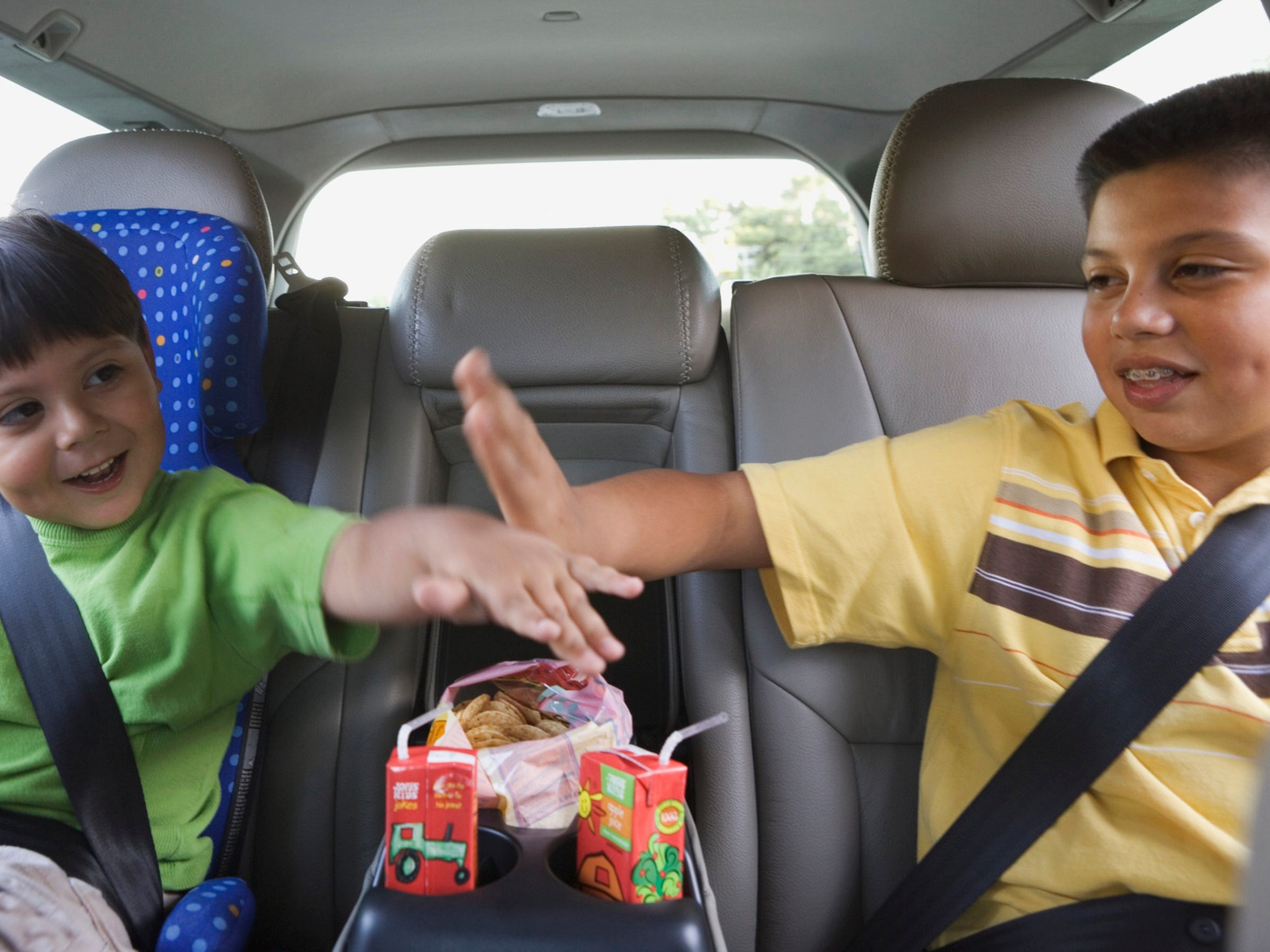 Try out some old-fashioned road games on the ride.