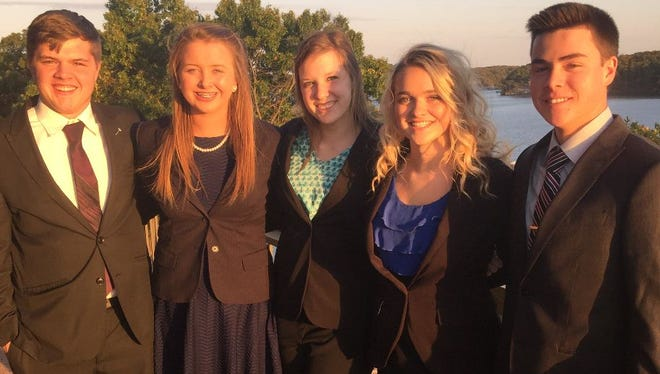 Students from Kickapoo High School recently attended the Missouri DECA Fall Leadership and State Officer Election Conference.