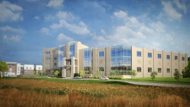 Xavier University and TriHealth broke ground Monday on the $54 million campus Health United Building, to open in August 2019 – part gym, part health center, part academic building.