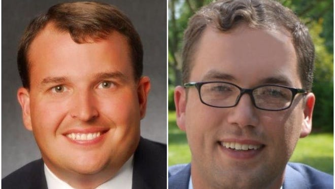 Jason Potts, left, and Kyle Southern, right, are running for the Democratic nomination in state House District 59.
