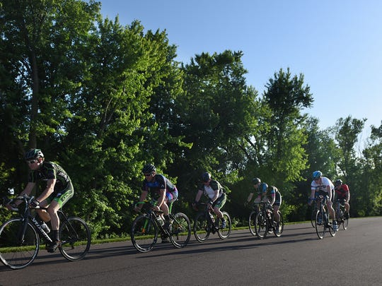 Scenes from the Sioux Falls Criterium Series race powered by Spoke-N-Sport and Queen City Cycling at Yankton Trail Park on Wed., June 8, 2016. The next races will be July 6 at Yankton Trail Park. For more information visit siouxfallscrits.com.