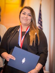 Rosita Olalde, one of two Chemeketa Community College students honored Thursday for their academic achievements at a ceremony sponsored by the Oregon Community College Association.