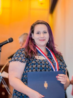 Megan Dunn, one of two Chemeketa Community College students were honored Thursday for their academic achievements at a ceremony sponsored by the Oregon Community College Association.