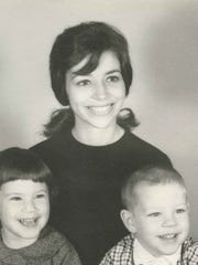 Jenny Connell and her two children. Connell's husband, James, died in captivity during the Vietnam War.